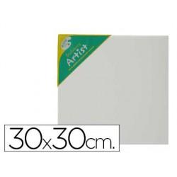 Tela de algodao 100% agrafada por tras 30x30 cm.