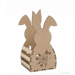 KIT RABBIT BOX 16X13X30.5X0.3CM MDF