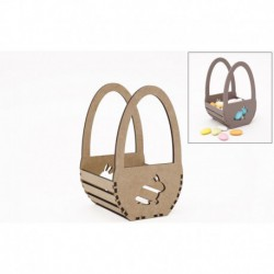 KIT BASKET EGG 9X9X15X0.3CM MDF