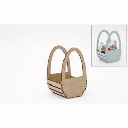 KIT BASKET BOX 9X9X15X0.3CM MDF