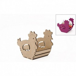 KIT CHICKEN BOX 9X8.5X17.5X0.3CM MDF